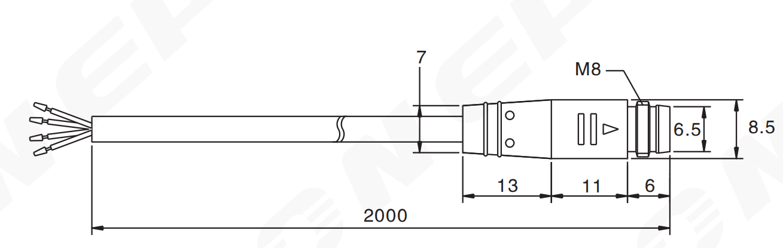 Heyi-M8 Connector - Heyi Sensor | Sensor Connector