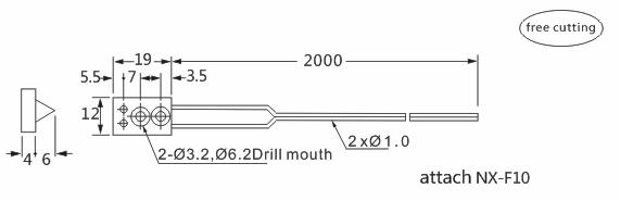 product-Heyi-High quality fiber sensor head FN-D009 diffuse reflective R10 bend radius-img-1