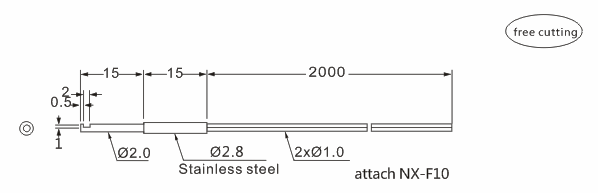 product-Heyi FN-D049 fiber sensor head diffuse reflective R11 bend radius with high quality-Heyi-im-1