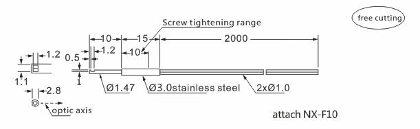 product-Heyi diffuse reflective FN-D050 digital fiber sensor head M3 with bending radius R25-Heyi-i-1