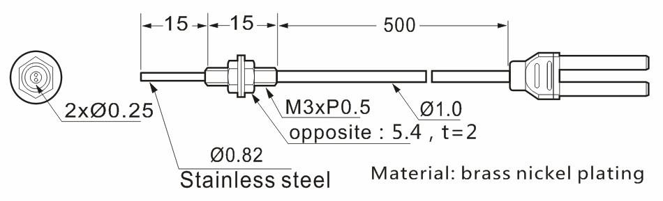 product-Heyi M3 fiber sensor head FN-D069 diffuse reflective R4 bend radius with high quality-Heyi-i-1
