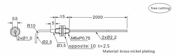 product-High quality fiber sensor head Heyi FN-D088 diffuse reflective R25 bend radius-Heyi-img-1