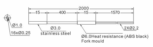 product-Heyi-fiber optical cable fiber sensor head diffuse reflective-img-1