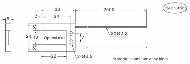 product-Heyi-Heyi high-quality FN-T006 Optic fiber sensor head thru beam sensor R30 bend radius-img-1