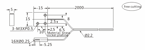 product-Heyi FN-T023 optic fiber sensor head through beam sensor R25 bend radius with high quality-H-1