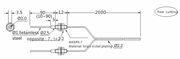 product-Heyi customized product FN-T072 optic fiber sensor head through beam sensor R25 bend radius-1