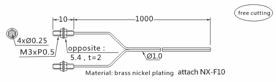 product-Heyi high-quality FN-T078 optic fiber sensor head through beam sensor R4 bend radius-Heyi-im-1
