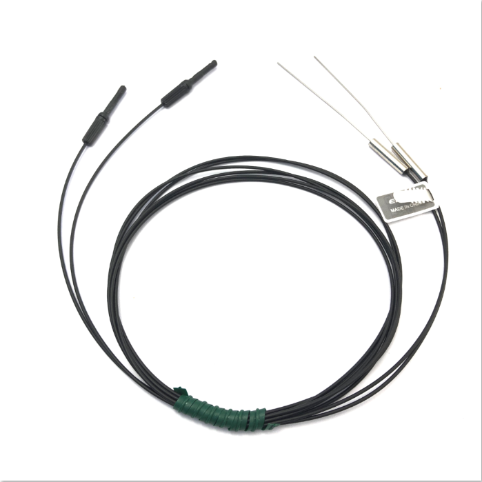 Heyi stainless steel  FN-T101super small optic fiber sensor head through beam sensor R10 bend radius with high quality