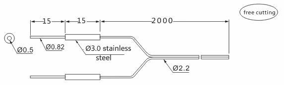 product-Heyi stainless steel FN-T102 super small optic fiber sensor head through beam sensor R15 be-1
