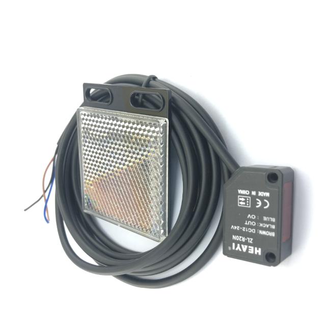 ZL-R20 retro reflective photoelectric sensor 2M sensing for transparent object
